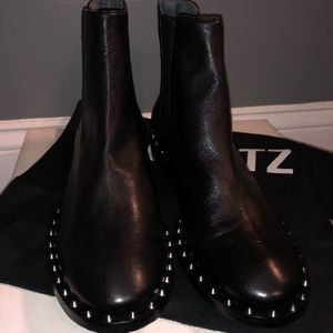 SCHUTZ genuine leather black ankle boots size 8